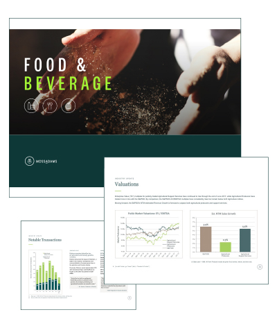 Food & Beverage Market Monitor
